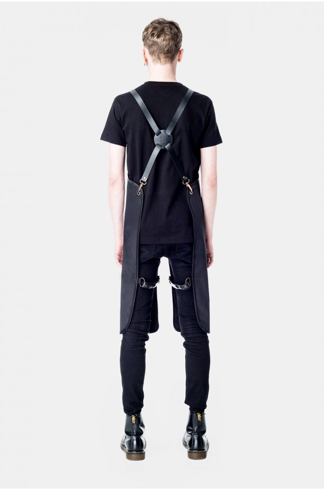 Black Split Leather Braces