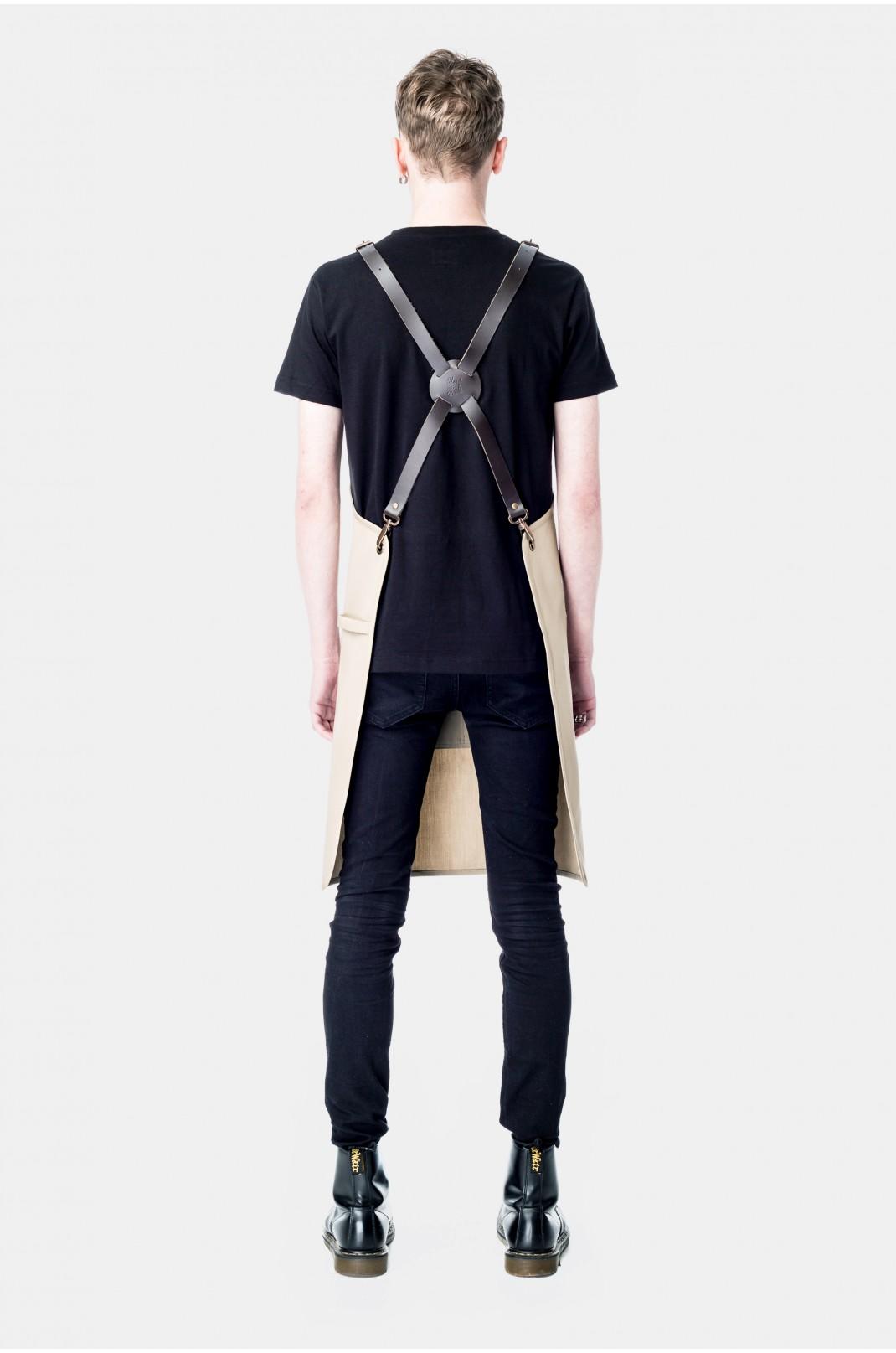 Safari Brown Leather Braces